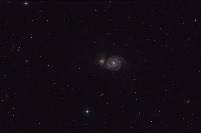 "M51 - Галактика ""Водоворот"" - астрофотография"