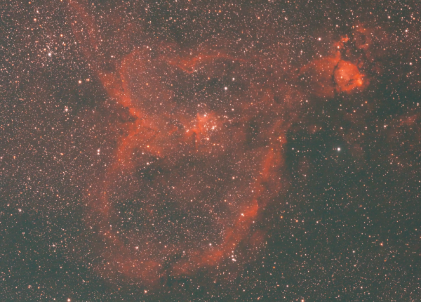 IC1805 Heart Nebula - астрофотография