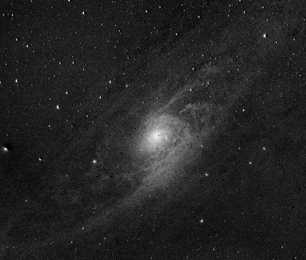Ядро Галактики Андромеды, М31,  R - B - астрофотография