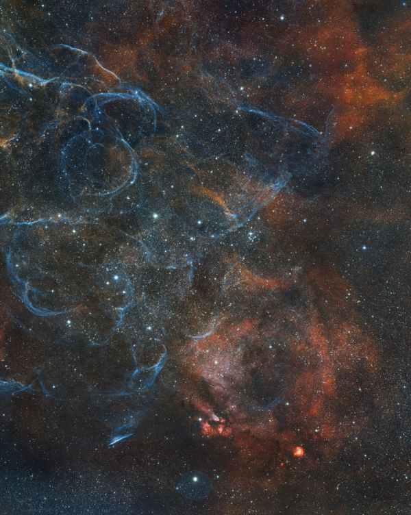 Vela SNR remnant - астрофотография