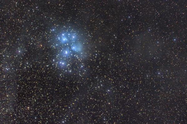 Рассеянное скопление Плеяды - астрофотография