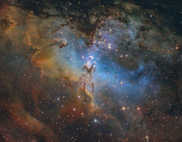 M 16, The Pillars of Creation (HST)(2) - астрофотография