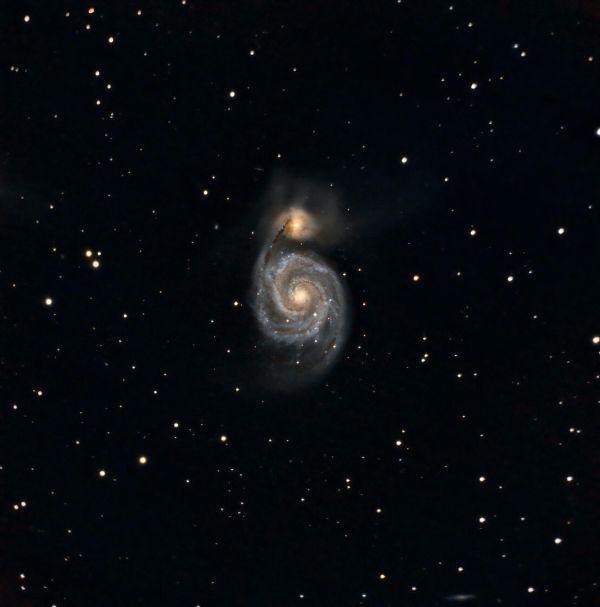 M51 The Whirlpool Galaxy - астрофотография