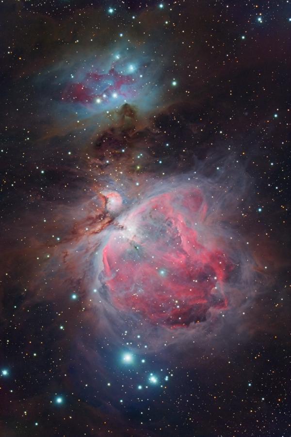 2017.01.14 M42, M43, Running Man - астрофотография