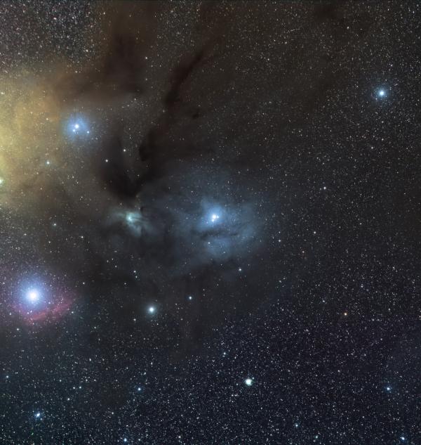 Молекулярное облако Ро Змееносца (ρ Ophiuchi) - астрофотография