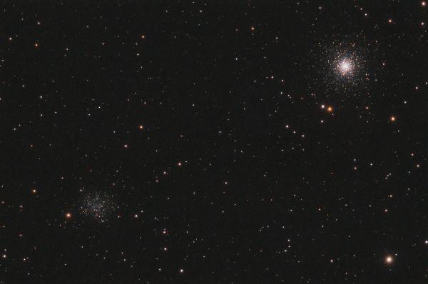 Два скопления - астрофотография