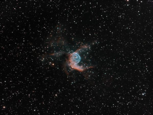 NGC2359/Gum4 (Emission Neb.) Thor's Helmet HOO - астрофотография