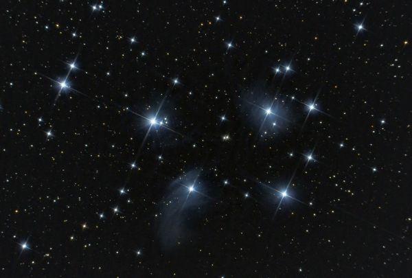 Рассеянное скопление Плеяды - M45 - астрофотография