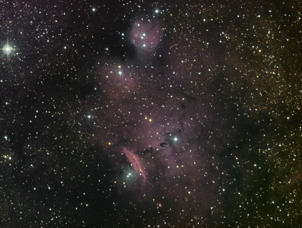SH2-29 Sagittarius LRGB - астрофотография