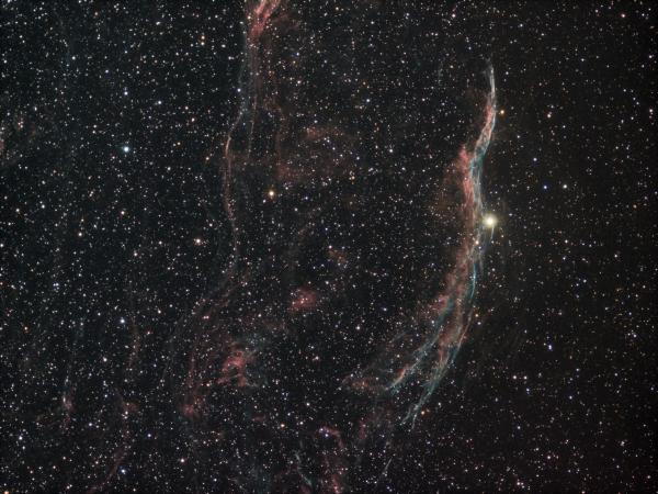 NGC 6990 Ha+OIII R G B - астрофотография