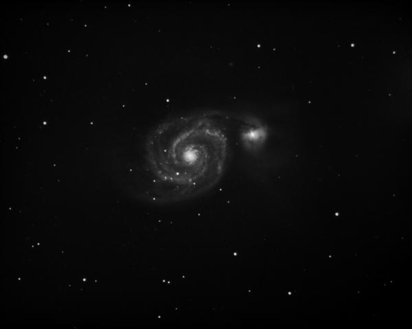 M51 - The Whirlpool Galaxy - астрофотография