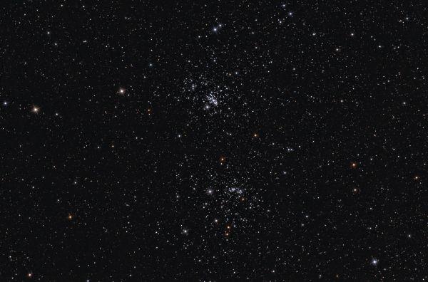 Двойное скопление в Персее (NGC 869 и NGC 884) - астрофотография