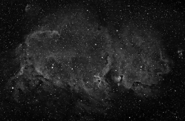 Туманность Душа в линии H-Alpha - астрофотография