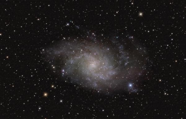 Галактика в Тругольнике М33 - астрофотография
