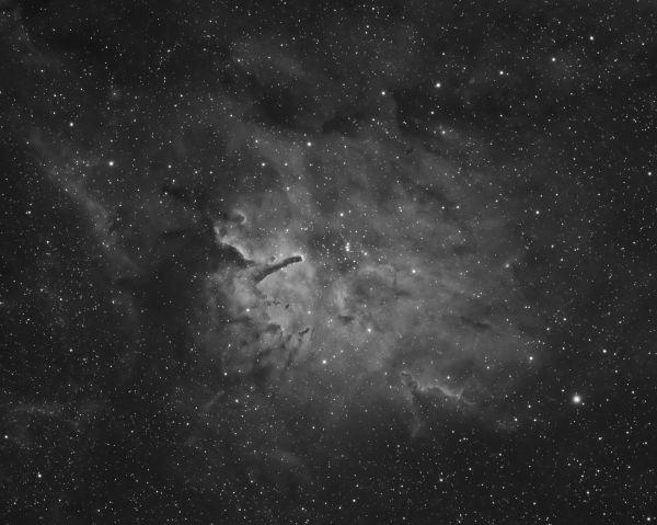 NGC 6823 Ha - астрофотография