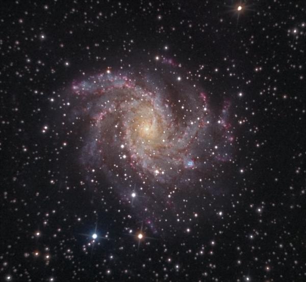 Галактика Фейерверк NGC6946 LRGB - астрофотография