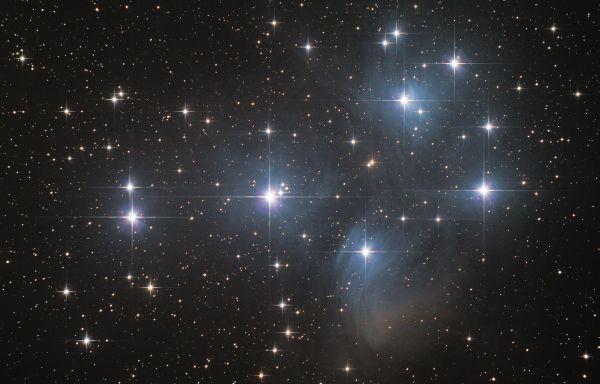 "M 45 (""Плеяды"") - астрофотография"