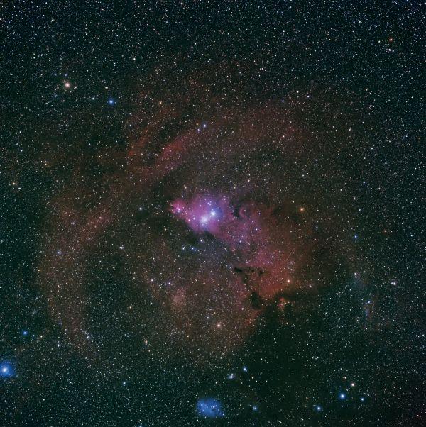 Туманность Конус и Кластер Рождественское Дерево - астрофотография