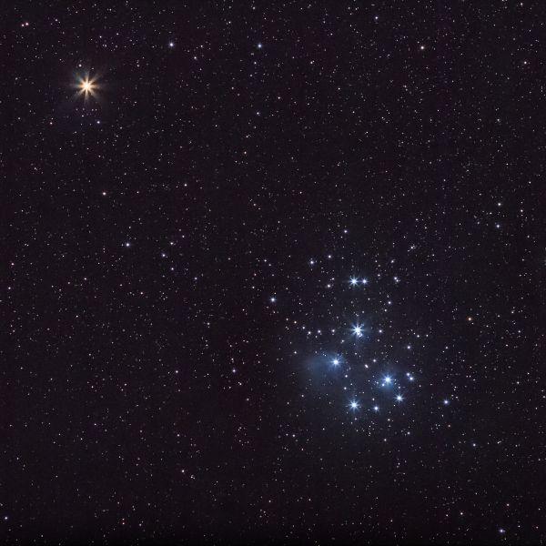 M45 Плеяды и Марс 06.03.21 - астрофотография