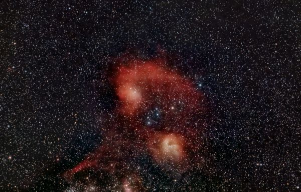 IC 405, IC 410 (22-03-2020) - астрофотография