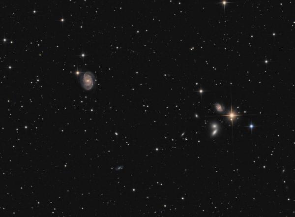 NGC5371/NGC5390 (Galaxy) and friends LRGB - астрофотография