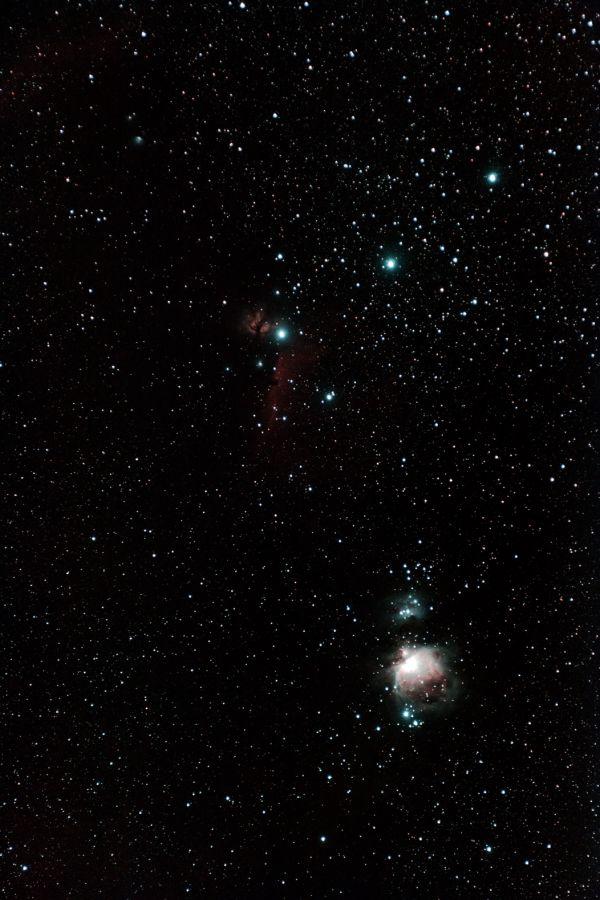 Nebulas in Orion - M42, M43, Horse Nebula, M78. - астрофотография