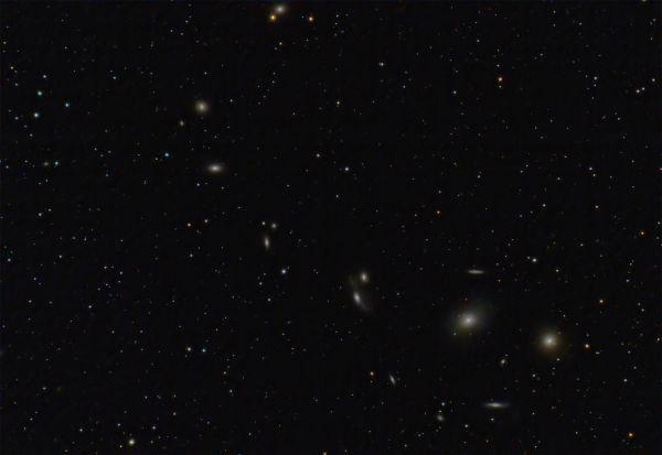 Цепочка Маркаряна 24-04-2020 - астрофотография