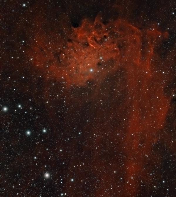 Туманность пламенеющей звезды (SH 2-229) - астрофотография