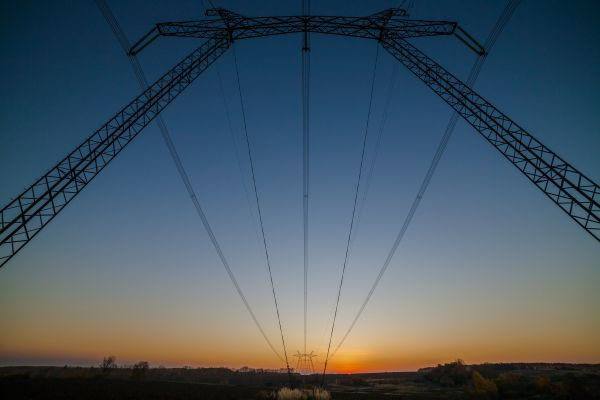 Пейзаж с заходом Солнца - астрофотография
