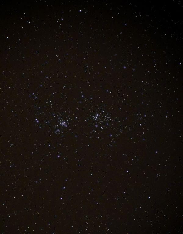NGC 869 и NGC 884 рассеянное скопление Хи и Аш Персея. - астрофотография