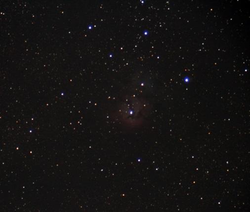 тройная м20 - астрофотография