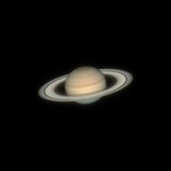 Сатурн 25.07.2021 00:44 МСК - астрофотография
