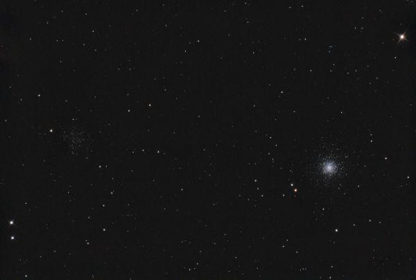 NGC 5024 (M 53) и NGC 5053 - астрофотография