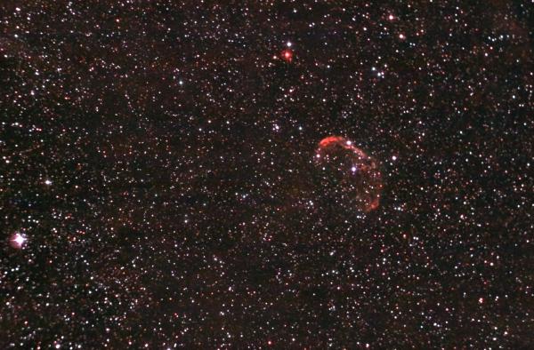 """Эмиссионная туманность """"Полумесяц"""" (она же NGC 6888 или LBN 203). 27.07.2021 - астрофотография"""