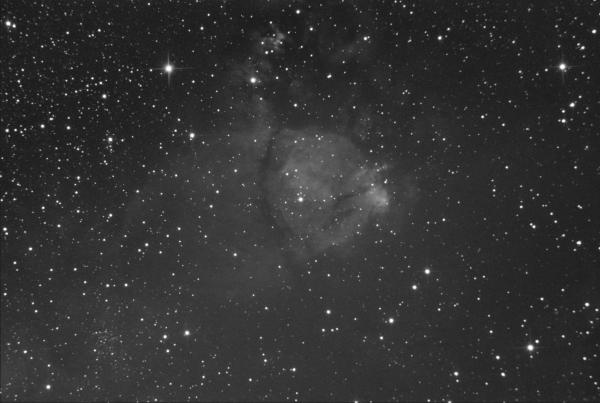 Фрагмент туманности Сердце в созвездии Кассиопея - астрофотография