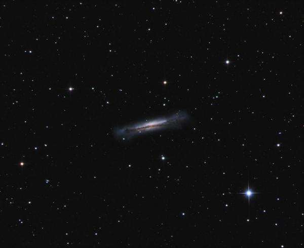 NGC 3628 Hamburger Galaxy in Leo LRGB - астрофотография