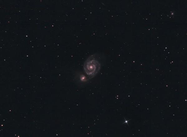 M51 Whirpool & NGC5195 - астрофотография