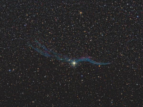 Western Veil Nebula - NGC6960 - астрофотография