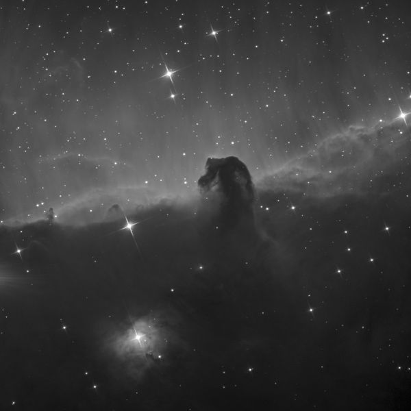 IC 434, Horsehead nebula Ha+L - астрофотография