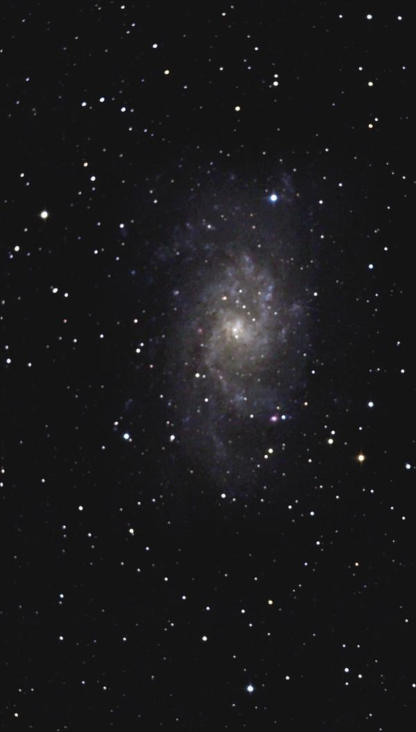 Галактика М33 в Треугольнике. 10,10,2021 - астрофотография