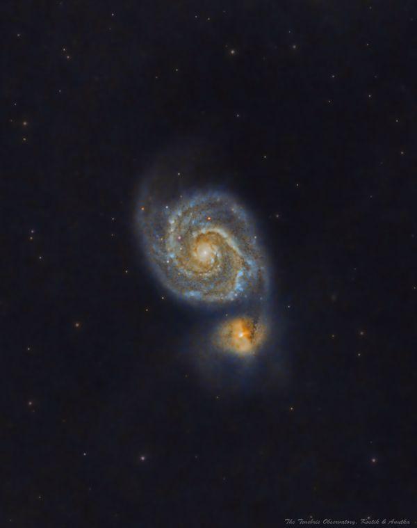 Первые эксперименты с М51 - астрофотография