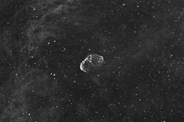 NGC6888 - The Crescent Nebula in Ha - астрофотография