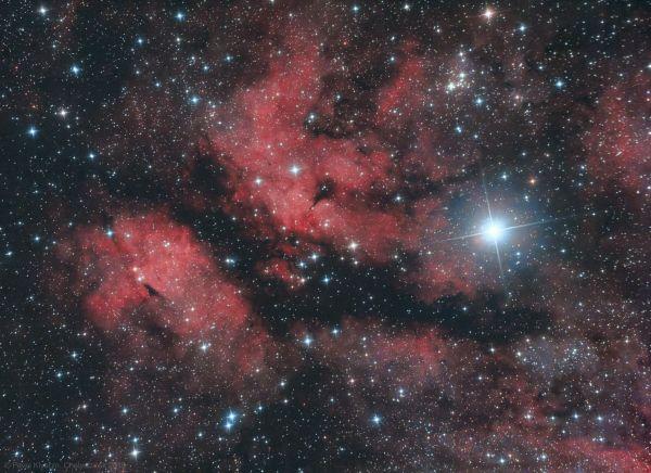 """Эмиссионная туманность IC 1318 """"Бабочка"""" - астрофотография"""