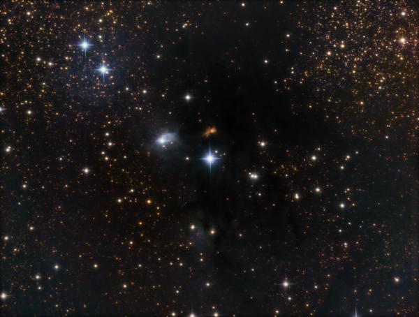 vdB 123, DG 153 in Serpens LRGB - астрофотография