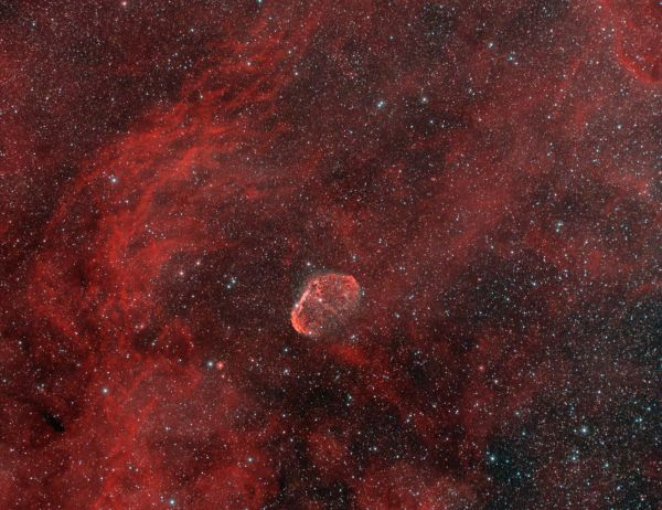 NGC6888 Туманность Полумесяц - астрофотография