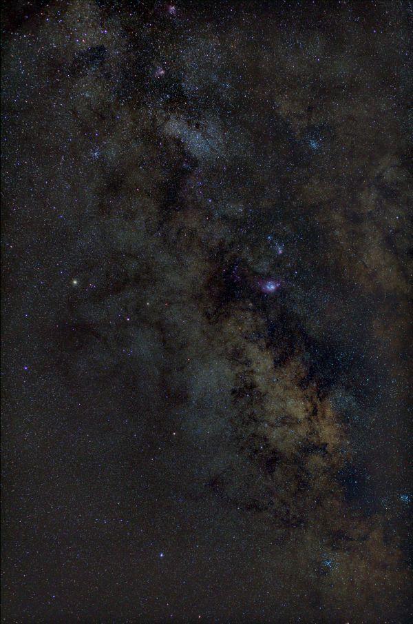 M8, M20, M16, M17 - Core of Milky Way - астрофотография