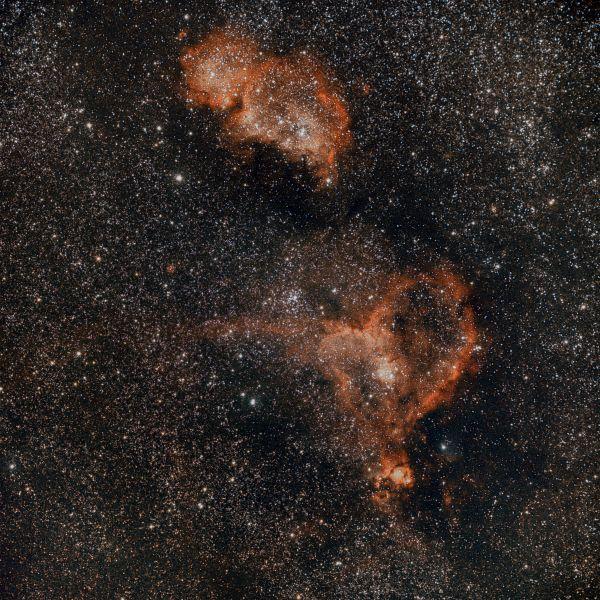 Heart and soul nebula - астрофотография