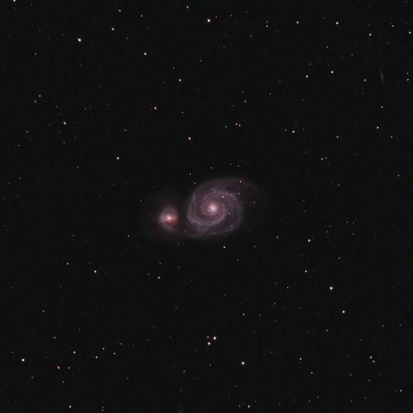 M51 Pinwheel Galaxy - астрофотография