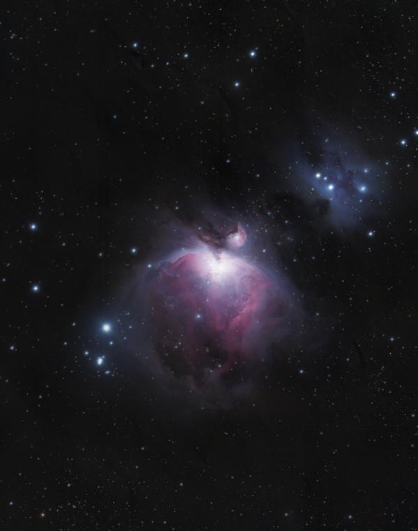 Комплекс туманностей Ориона (М42, М43, NGC 1977) - астрофотография