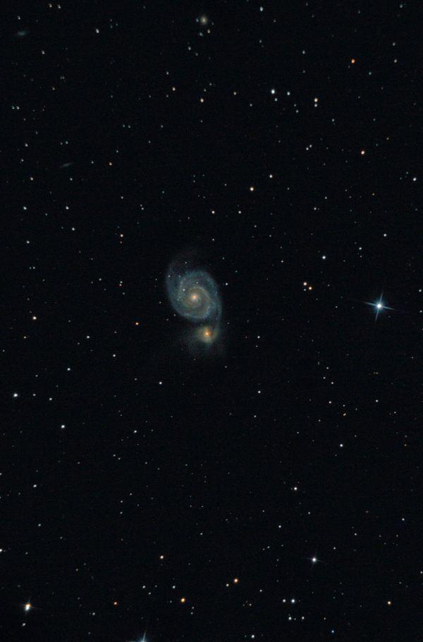 "Галактика М51 ""Водоворот"". - астрофотография"